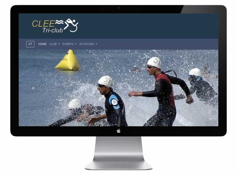 Clee Tri Club Website Designed