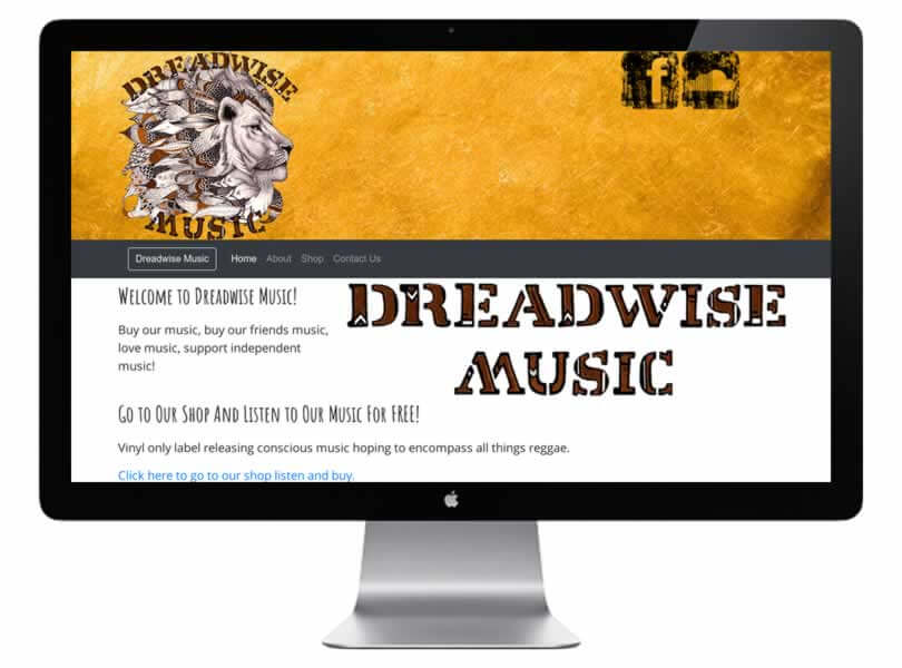 Dreadwise Music Website Designed